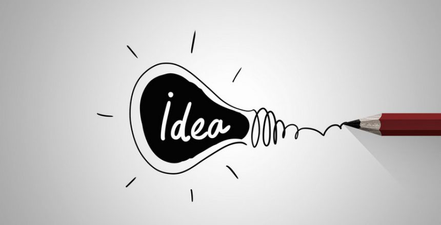 44701756 - idea concept image with pencil drawing light bulb